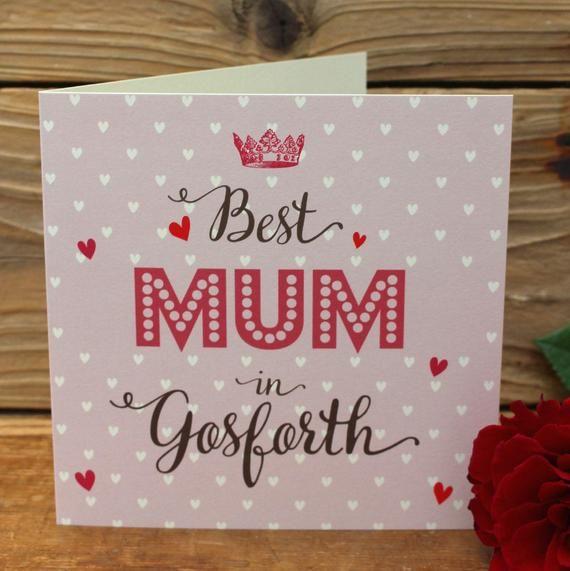 ROSE Large Best xxxxx  (Sister, Aunty, Mum Mam) Etc IN xxxxxxxx Personalised Card #mumsetc