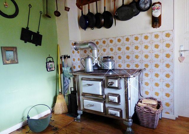 Holzofen, Herd, Küche, Old Fashioned, Nostalgie Stove - küche shabby chic