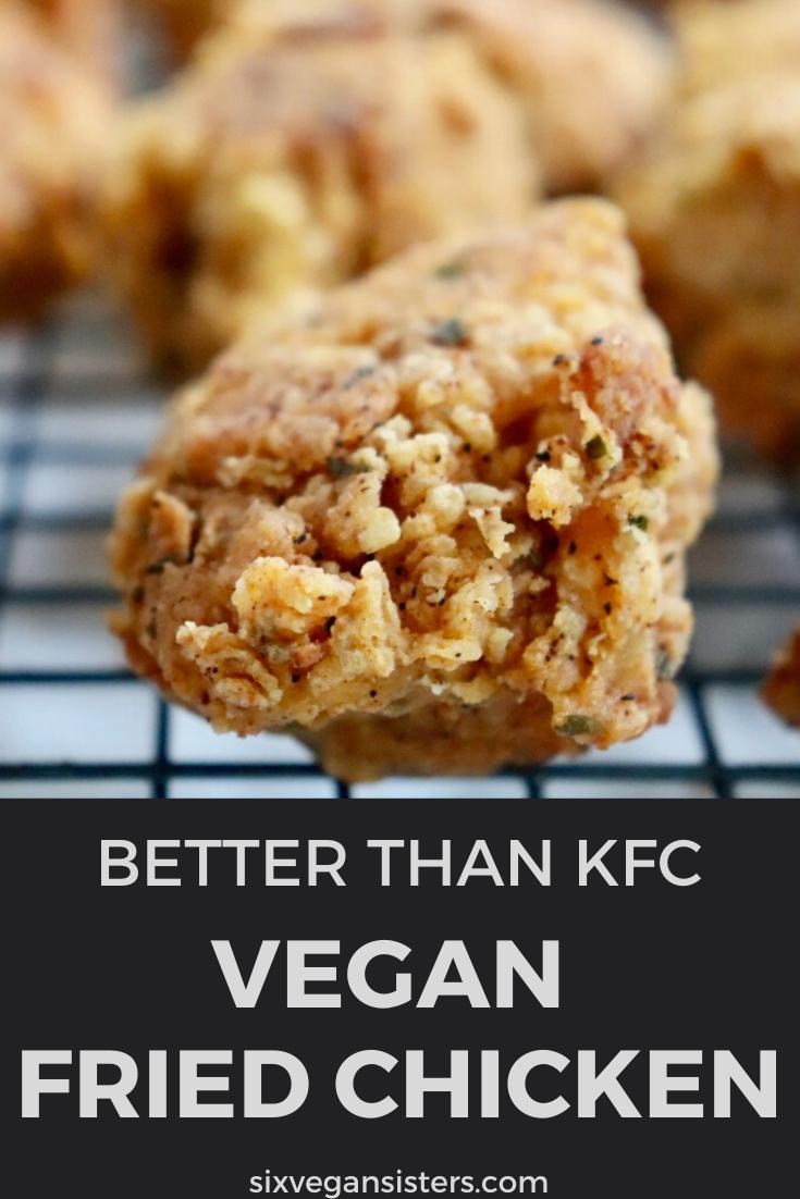 Vegan Fried Chicken In 2020 Delicious Vegan Recipes Vegan Fried Chicken Tasty Vegetarian Recipes