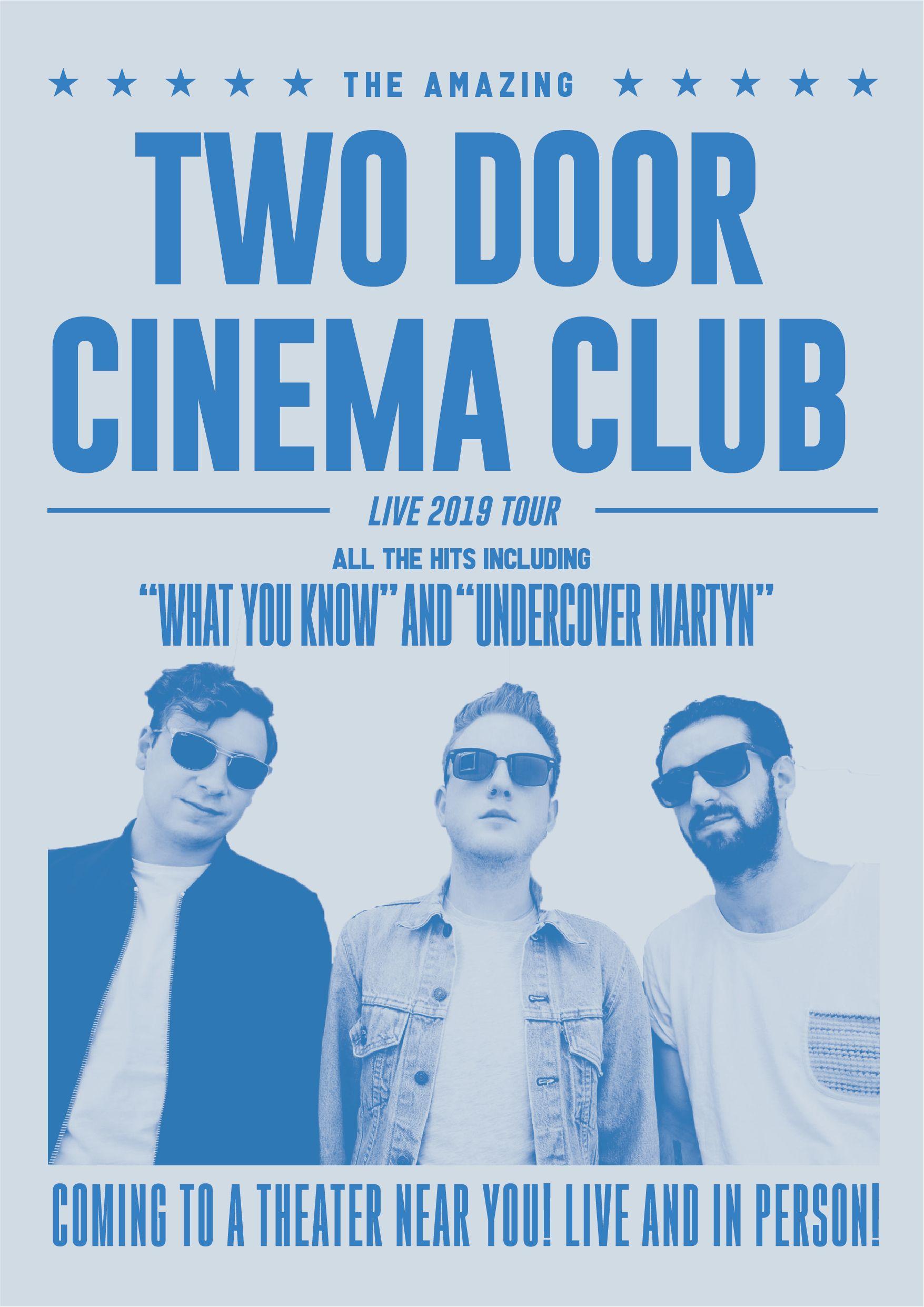 Two Door Cinema Club Retro Inspired 2019 Tour Poster Two Door Cinema Club Music Poster Tour Posters