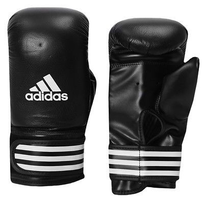 Gloves - Boxing 30102: Adidas Performance Leather Boxing Bag Gloves - Black -> BUY IT NOW ONLY: $36 on eBay!