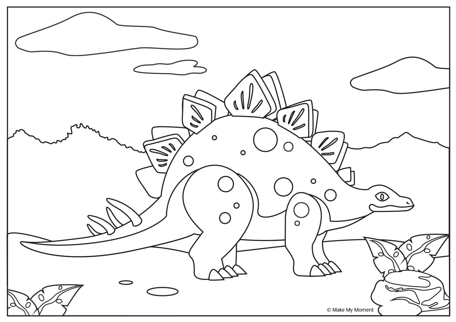 Gratis Dinosaurus Kleurplaat Te Downloaden Download Free Dinosaur Coloring Page Kleurplaten Dieren Kleurplaten Dieren