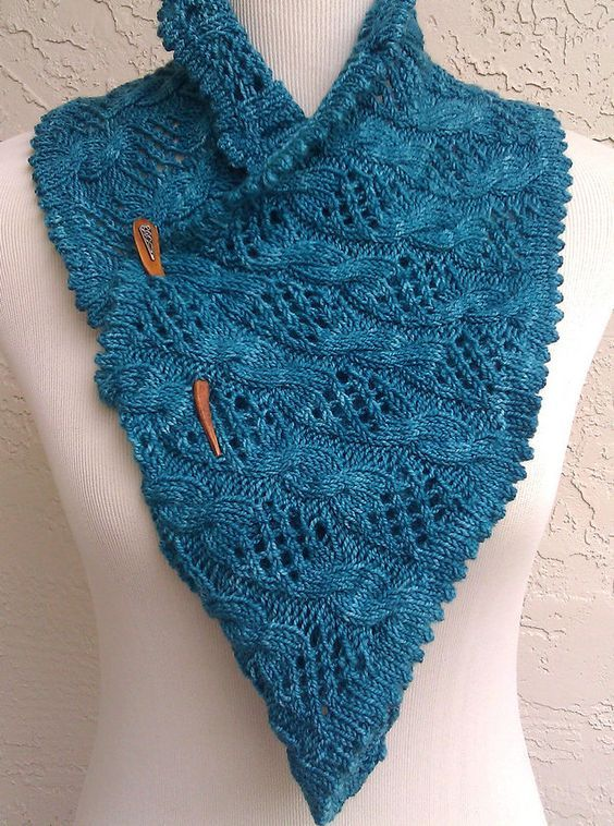 Free Knitting Pattern For My Dolphin Cowl Cable And Lace Infinity
