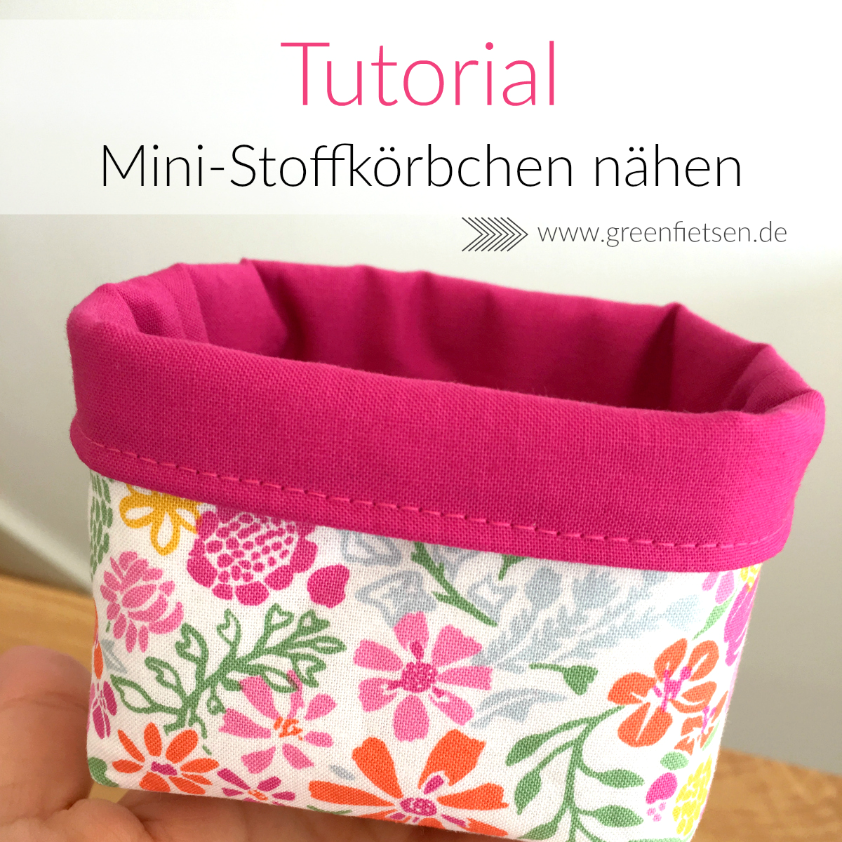 Photo of Tutorial | Mini-Stoffkörbchen nähen – greenfietsen.de