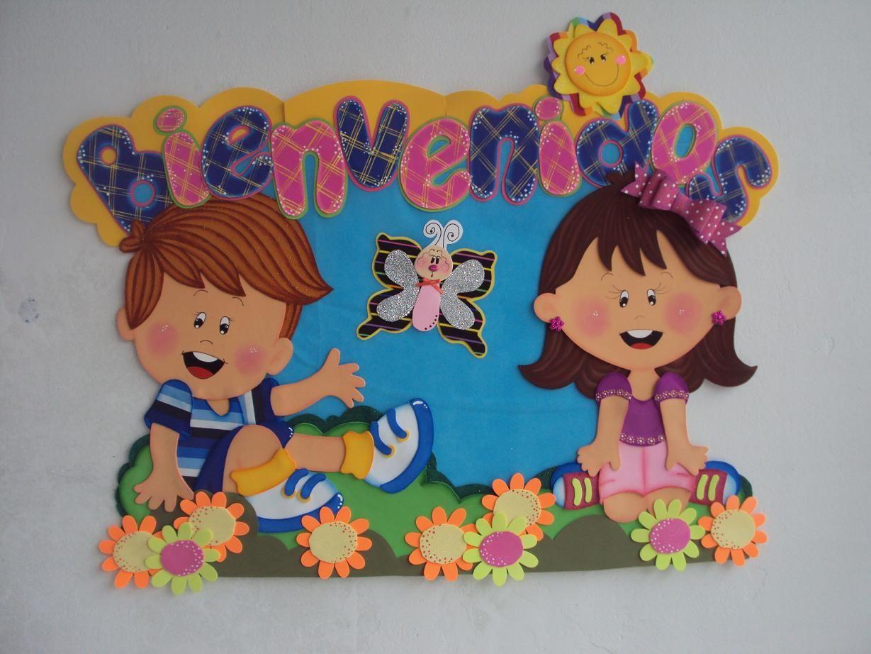 Inicio de clases peri dico mural pinterest inicio de for Decoracion infantil goma eva