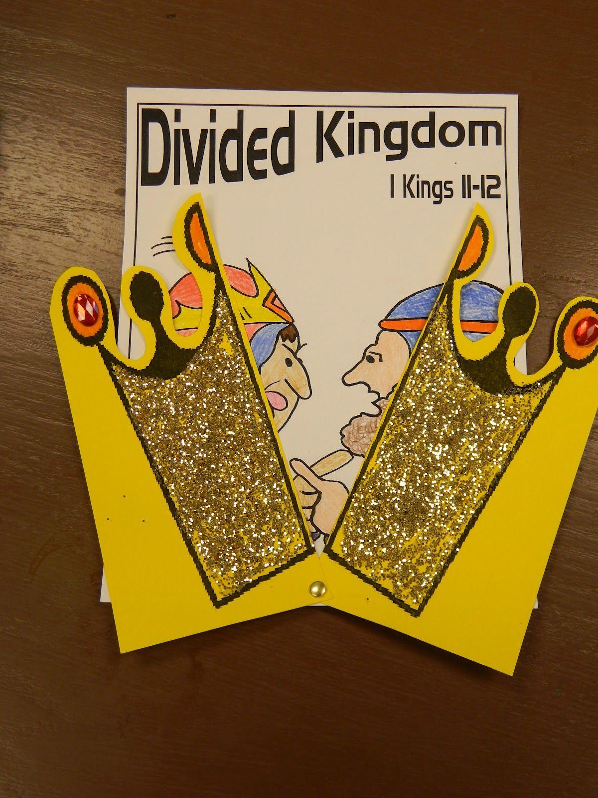 The Divided Kingdom Preschool Bible Activities Bible Crafts
