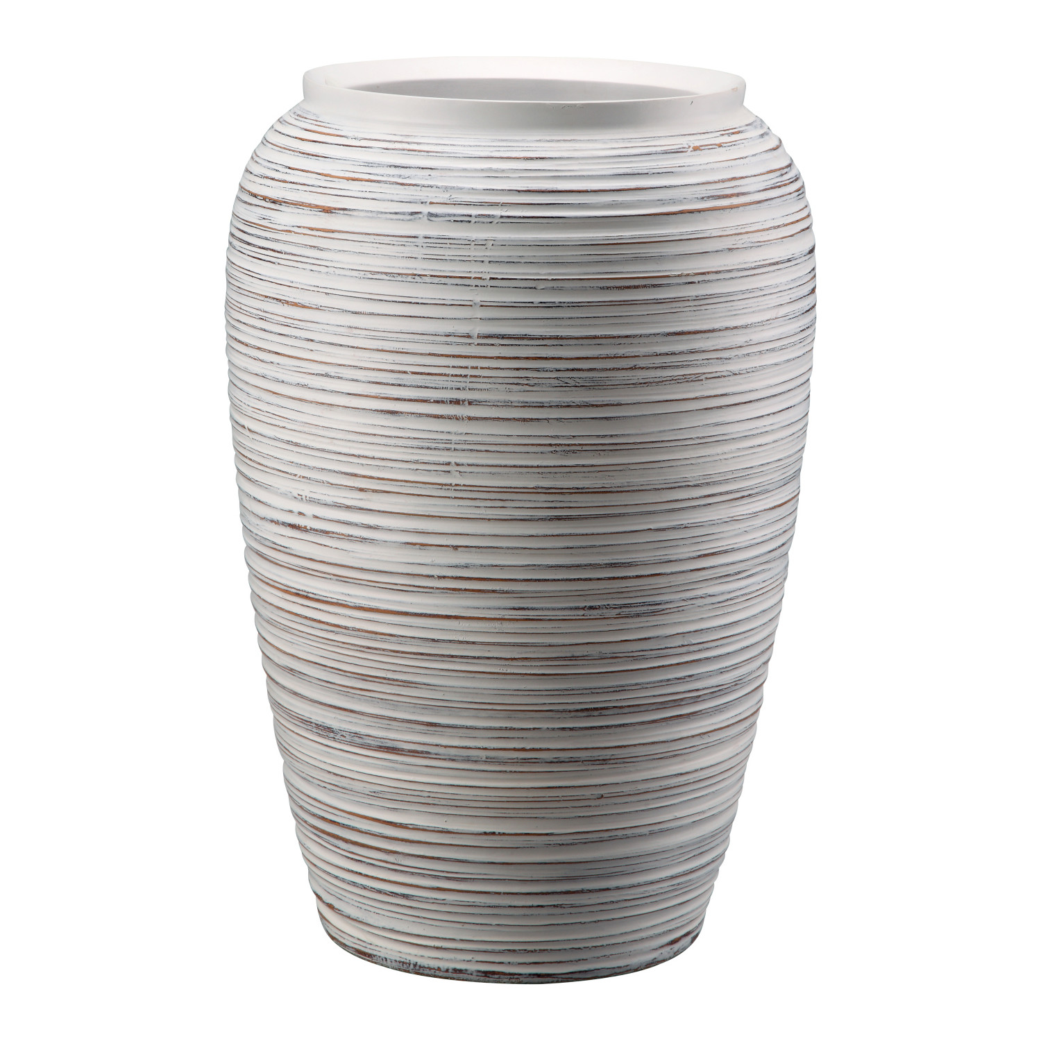 Kenora Vase In Cream White Fiberglass By Moe S Home Collection