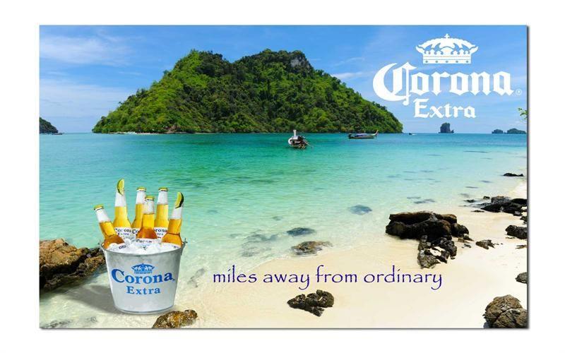 Corona Bucket Miles Away From Ordinary 3 X 5 Beer Flag Con