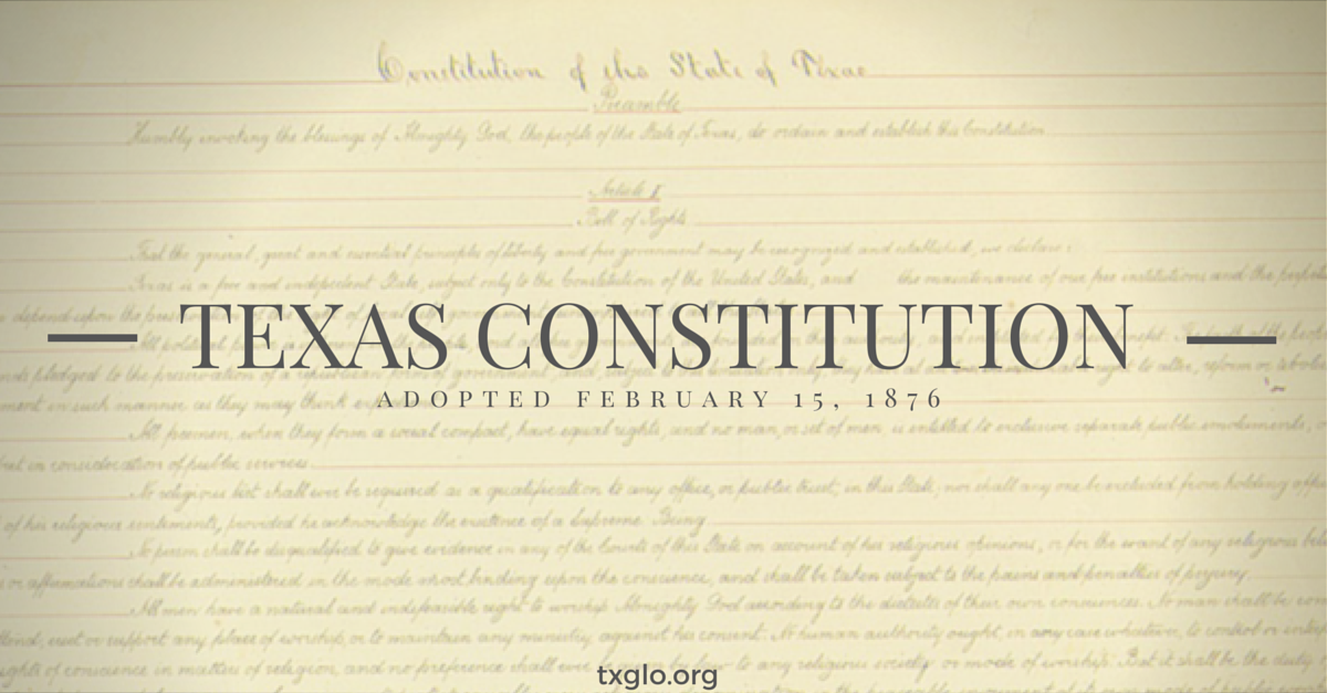 copy of the texas constitution