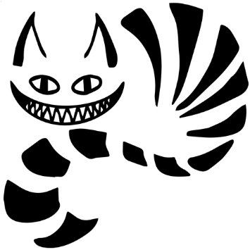 Cheshire cat black and white google search