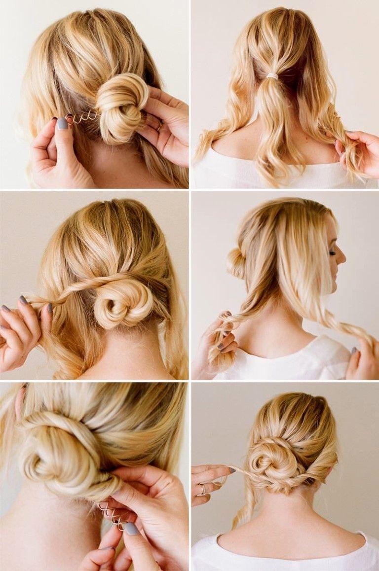 Einfache Hochsteckfrisur Kurze Haare Frisuren Zopf Frisur