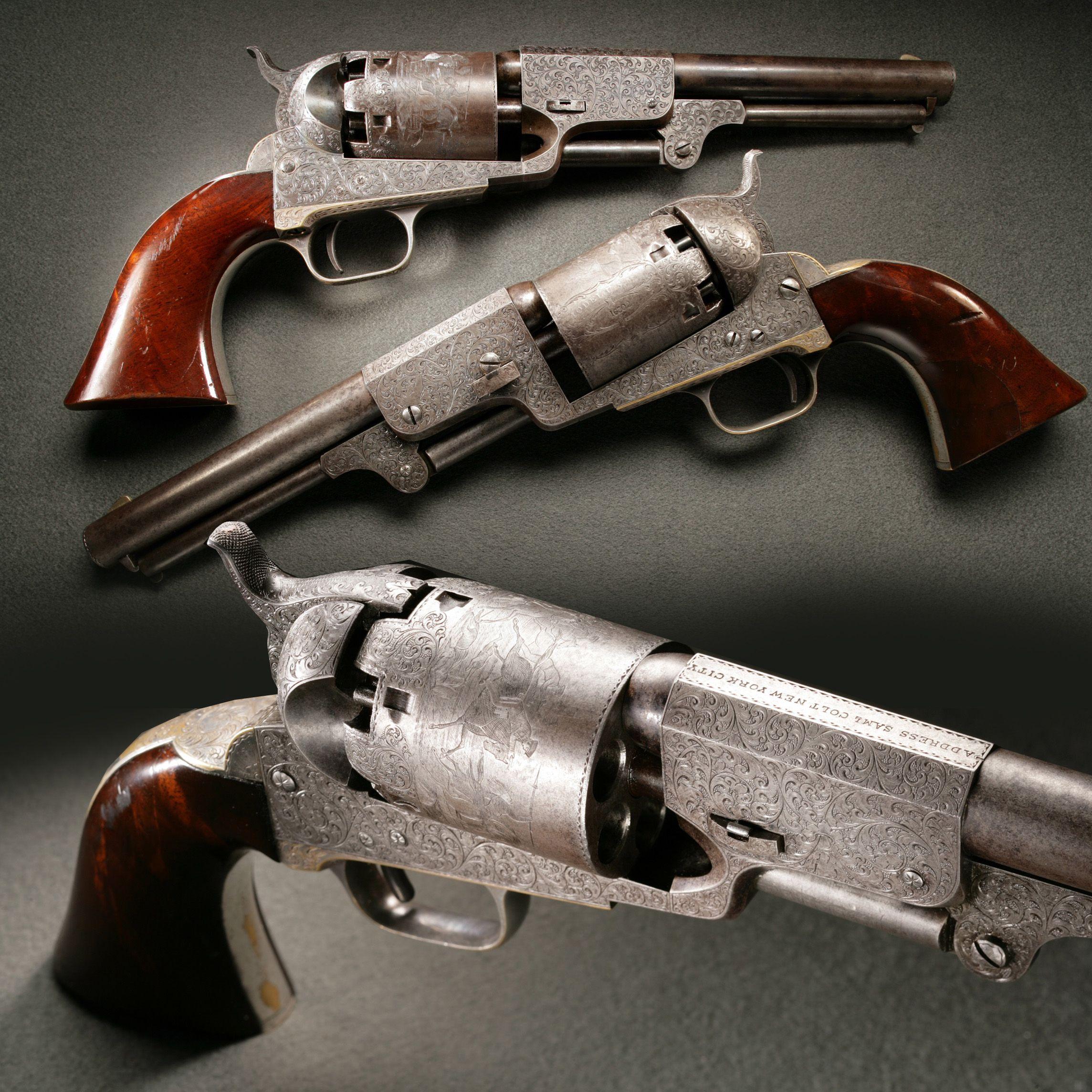 Presentation Engraved Colt Dragoon Revolvers