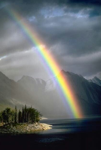 Whenever I bring clouds over the earth and the rainbow appears in the clouds, I will remember my covenant between me and you and all living creatures of every kind. Never again will the waters become a flood to destroy all life. Genesis 9:14, 15