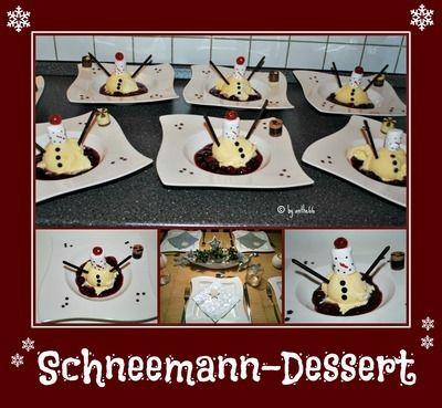 'Schneemann-Dessert'