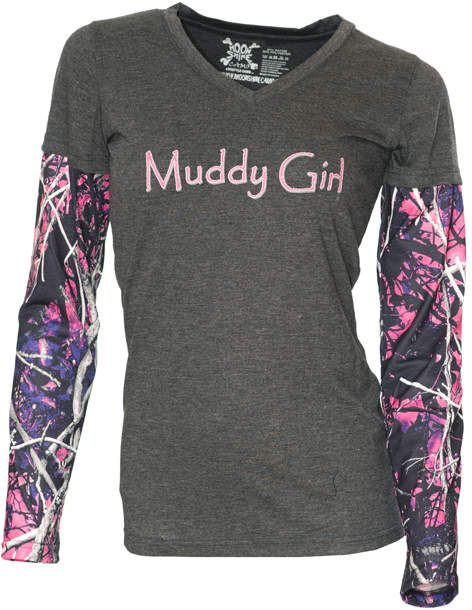 I love this Muddy Girl shit. The print rocks. #ad #fashion #countrygirl #countrygirlclothing #countryclothing #pinkcamo #camo #MuddyGirl #MuddyGirlCamo #longsleeveshirts