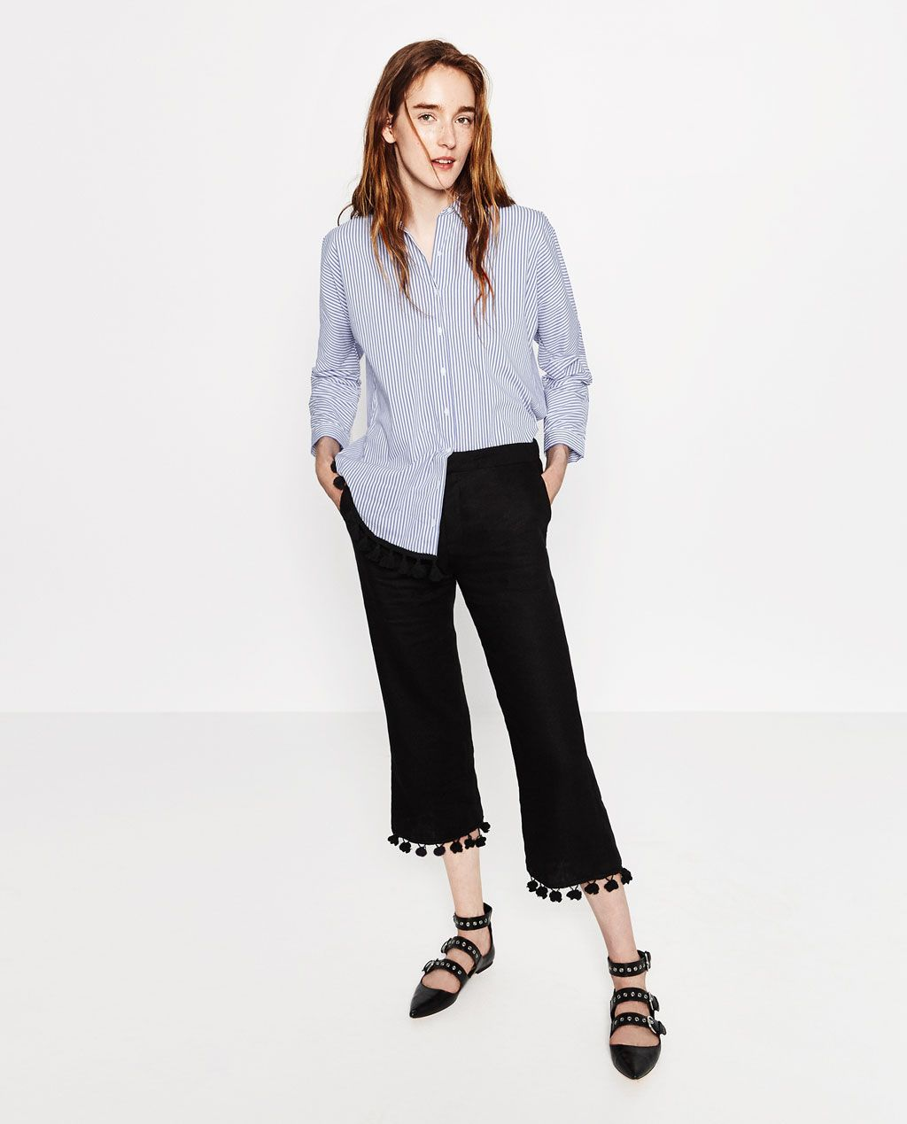 52e8d3d4 Image 1 of LINEN TROUSERS from Zara | Clothes! | Linen trousers ...
