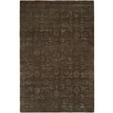 Nirvana Collection Hand Knotted Wool And Silkette Area Rug, Smokey Brown At Sams  Club