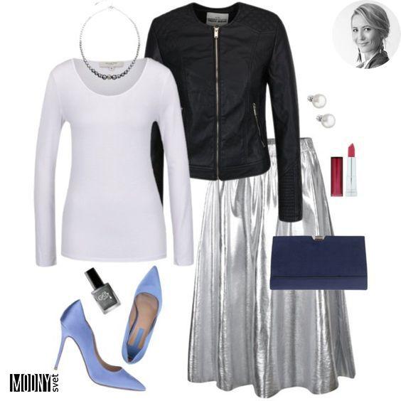 41e9001e6 Miška nás poprosila o módnu inšpiráciu na oslavu Napísala nám, že v šatníku  jej už visí pripravená metalická plisovaná sukňa. Potrebovala však malú  radu, ...