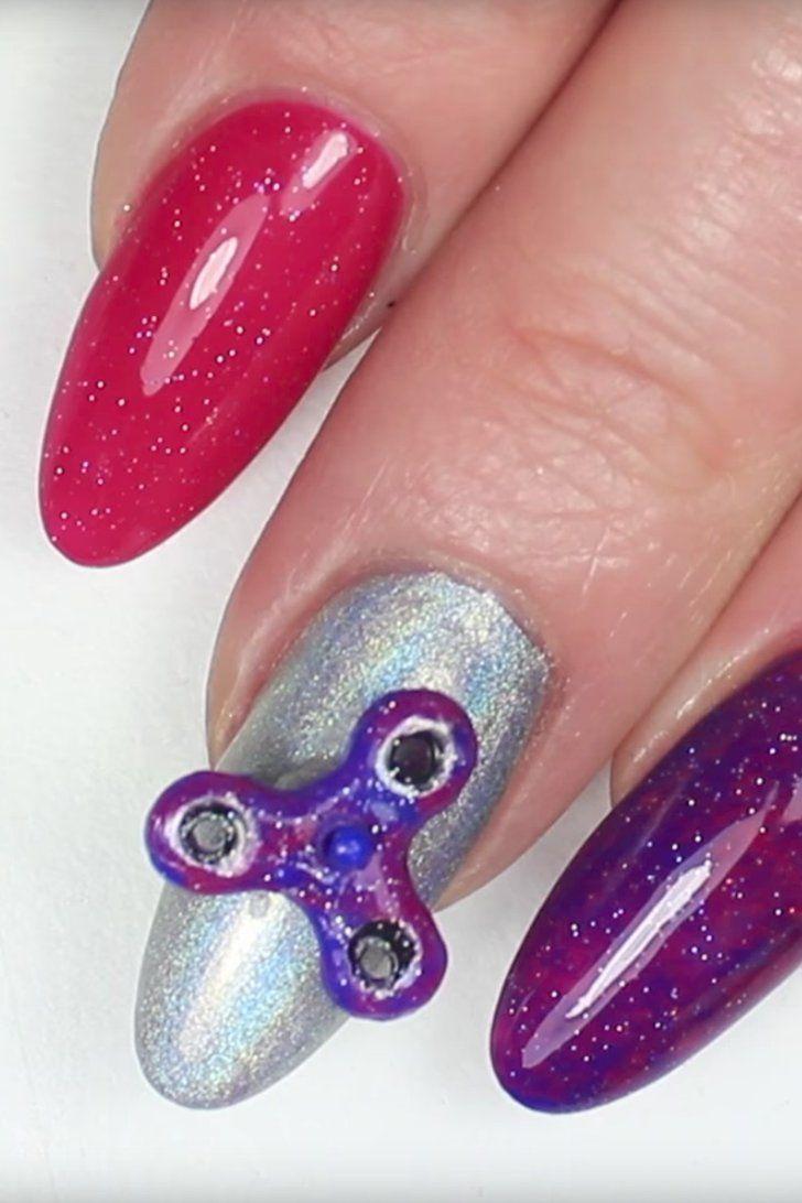 Fidget Spinner Nail Art   Beauty secrets