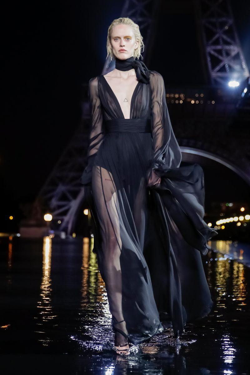 d08e5cfec5b Saint Laurent Ready To Wear Spring Summer 2019 Paris | Sheer ...