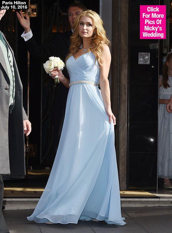 Paris Hilton Stuns As Maid Of Honor In Sister Nicky S Wedding Pic Paris Hilton Dress Maid Of Honour Dresses Valentino Bridal