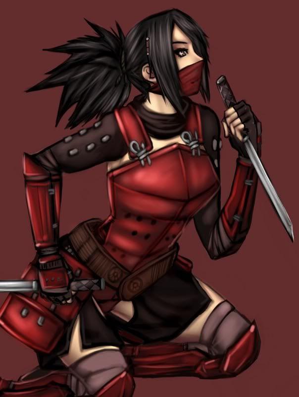 Pretty Ninja Girl Ninja Girl Anime Ninja Fantasy Female Warrior
