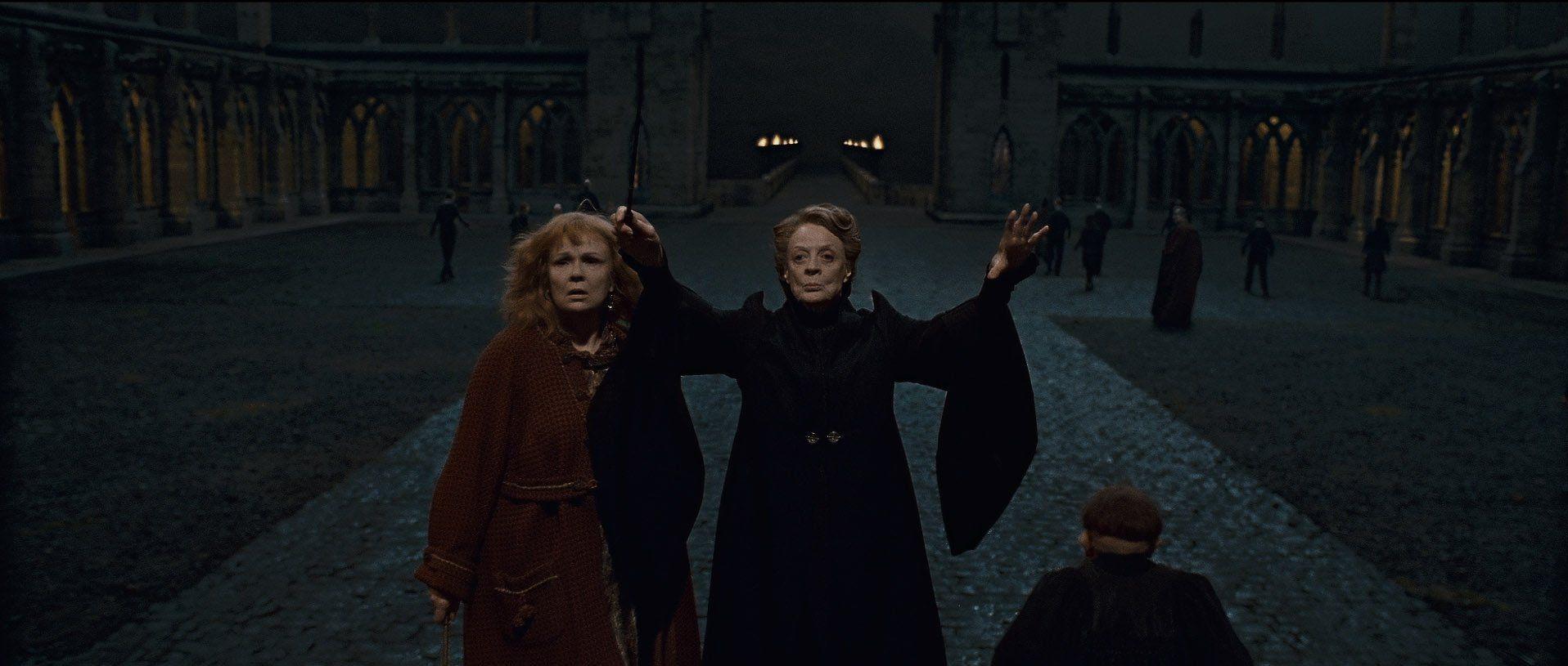 "Hogwarts is threatened!"" shouted Professor McGonagall. ""Man the ..."