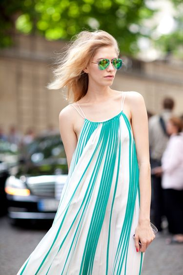 flowy dresses x mirrored sunnies