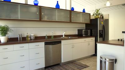Best Galley Kitchen With Stainless Appliances And Frosted Glass 640 x 480