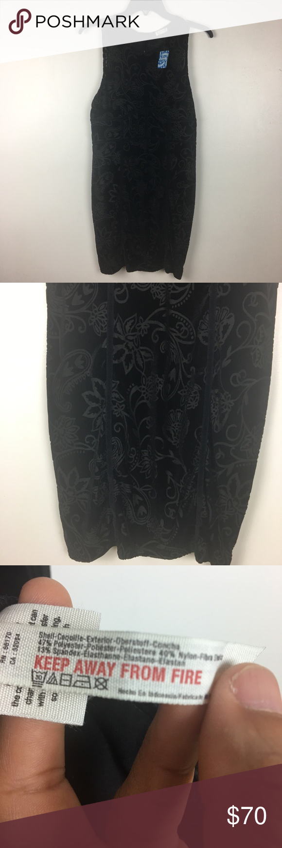 b799fe688c3 Free People Burnout Bodycon Dress Free People Burnout Bodycon Dress Keyhole  detail in the back. Floral print and crew neck Condition  NWT Color  Black  ...