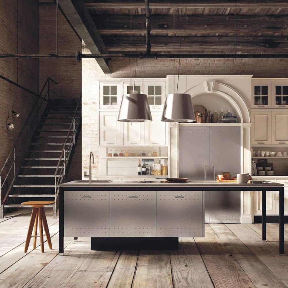 Une cuisine campagne qui marie meubles anciens et contemporains ...