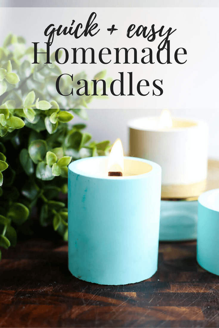A really quick and easy tutorial for DIY candles and