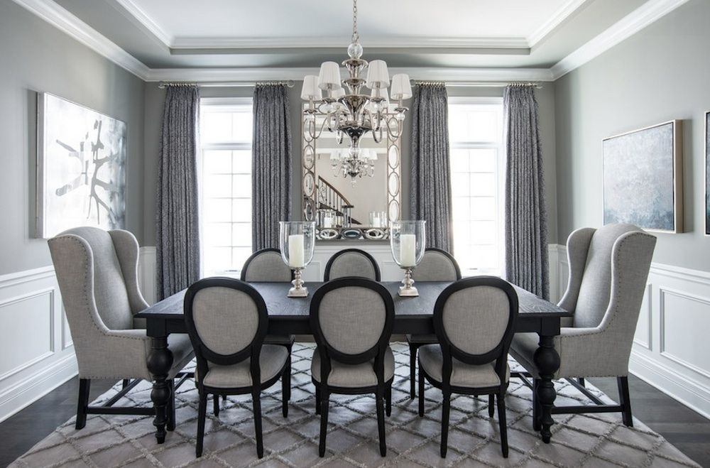 Why You Should Choose A Monochromatic Color Palette By Micle Mihai Cristian Gray Dining RoomsElegant RoomBlack