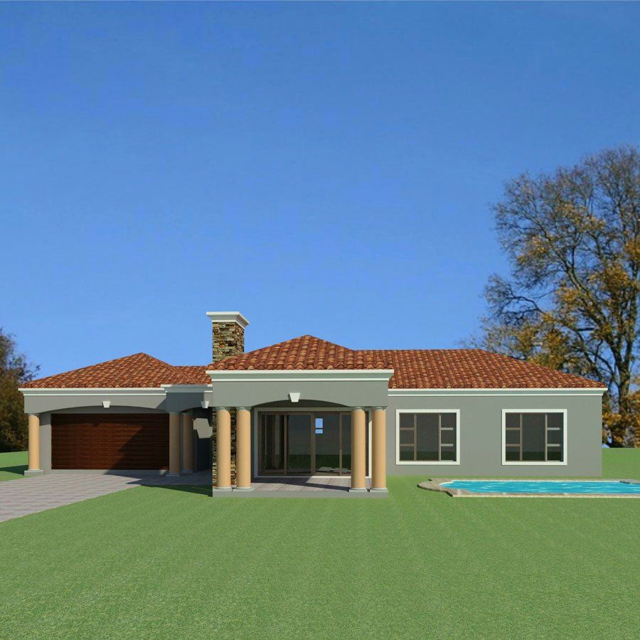 Seven Bedroom House Plans Awesome 3 Bedroom House Plan Single Storey House Plans Sou In 2020 House Plans South Africa House Plans With Photos Architectural House Plans