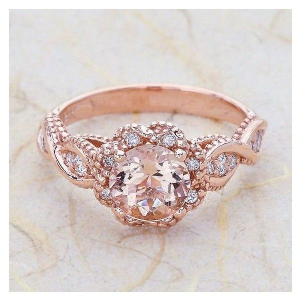 14K Rose Gold 2cttw Oval Shaped Halo Diamond Engagement Ring ❤ liked on Polyvore featuring jewelry, rings, 14k diamond ring, round diamond ring, 14 karat gold ring, oval cut engagement rings and pink gold rings