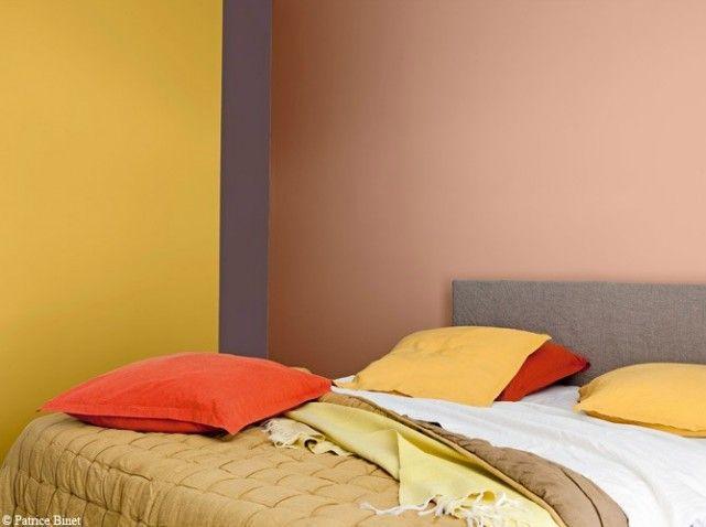 mur chambre couleur safran - Association Couleur Peinture Chambre