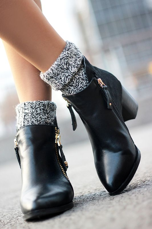 Leather Love/  ankle boots- Choies http://www.choies.com/product/black-zip-ankle-boots-with-ponyskin