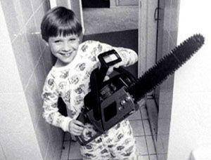 Imagine the look on a kid's face when he or she gets a chainsaw for Christmas!