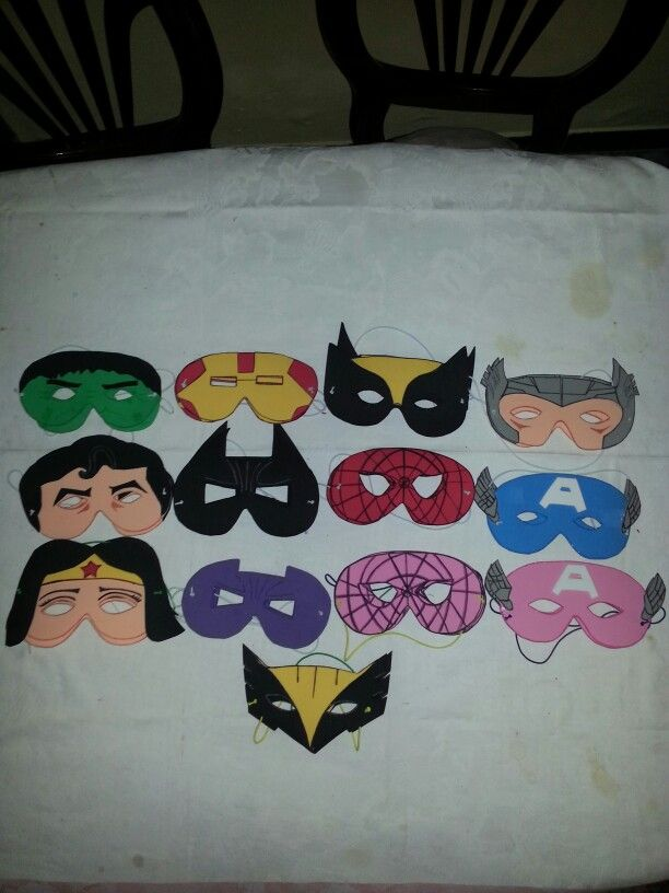 Mascaras Superheroes Ni 241 Os Y Ni 241 As En Foami Ideas