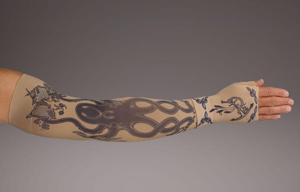 Lymphedudes kraken compression sleeve gauntlet for men
