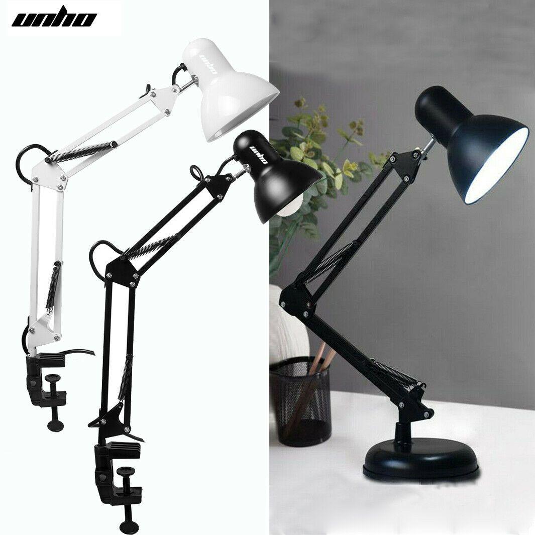 Flexible Long Arm Led Desk Lamp Home Table Lamp Bedside Night Light W E27 Bulb In 2020 Led Desk Lamp Bedside Table Lamps Desk Lamp