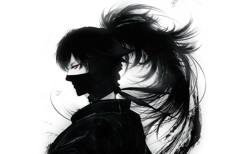black and white ninja manga | Home » Gallery » Anime Boys ...