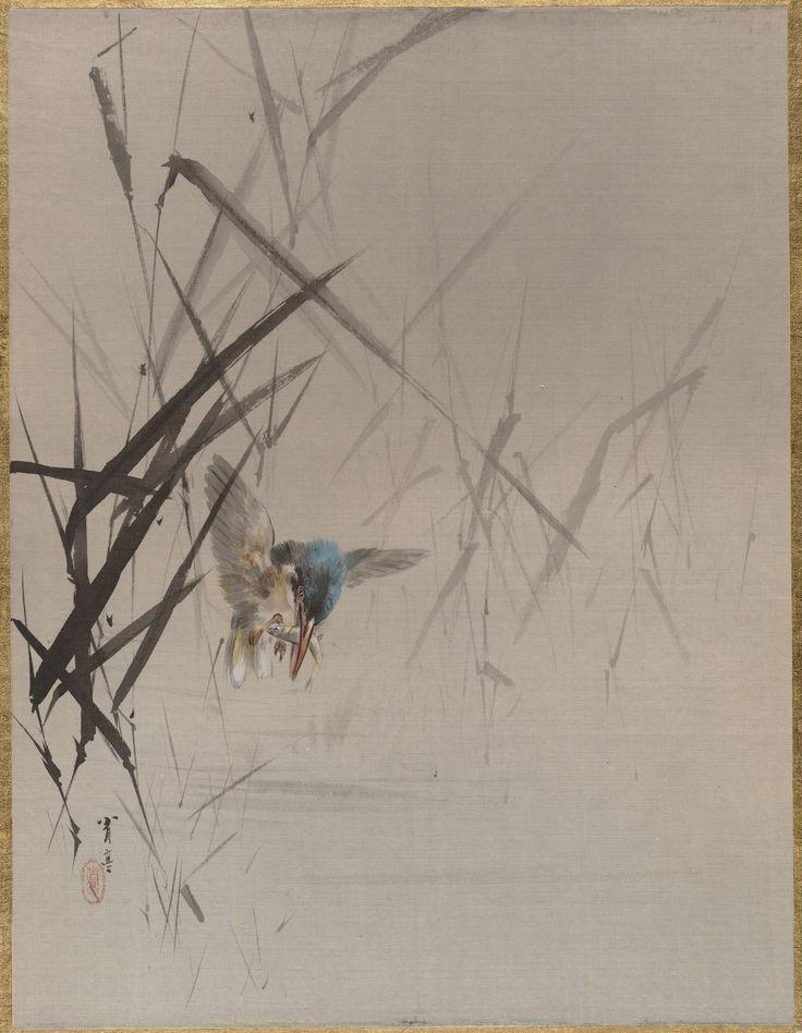 Watanabe Seitei | Bird Catching Fish Among Reeds | Japan | Meiji period (1868–1912) |