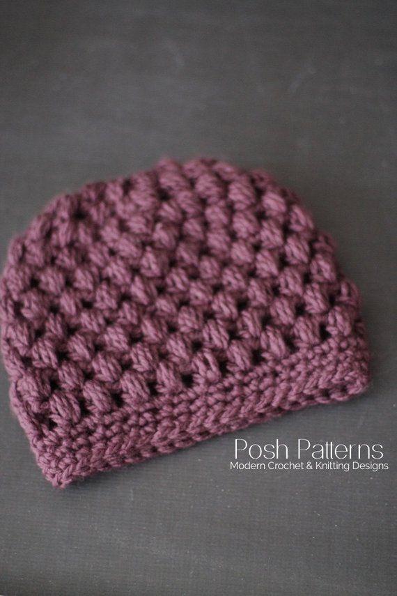 Crochet PATTERN - Messy Bun Hat Crochet Pattern - Modern Crochet Hat Pattern - Ponytail Hat - Toddler, Child, Adult Sizes - PDF 441 #messybunhat