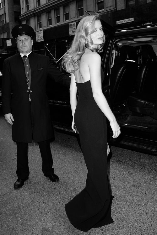 Georgia May Jagger outside the Mandarin Oriental before heading to the Met Gala 2014