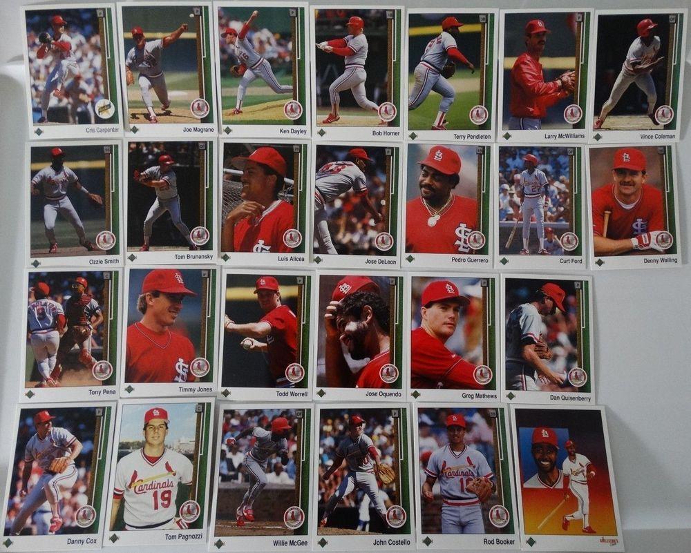 1989 upper deck ud st louis cardinals team set of 26
