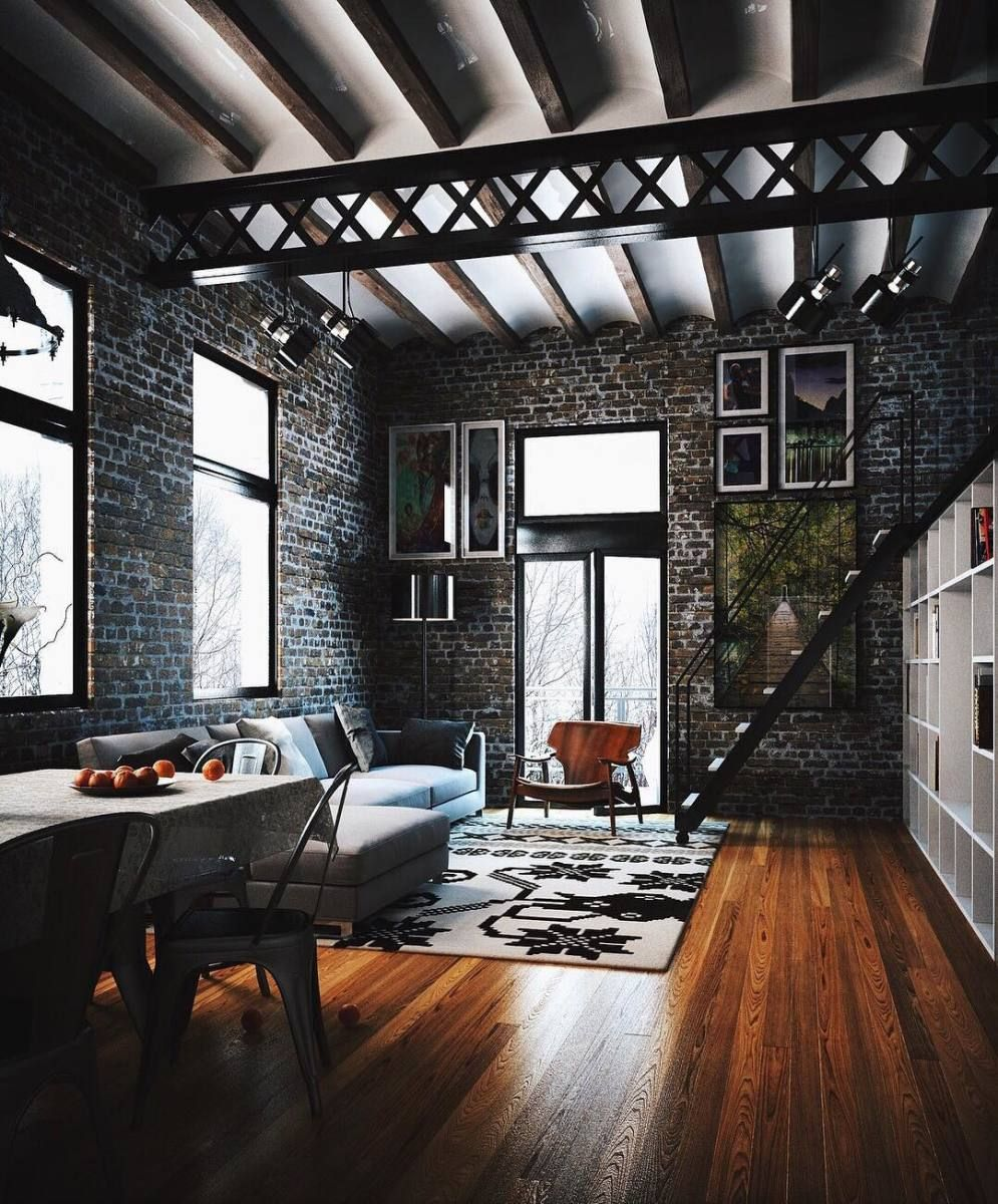 Minimal Interior Design Inspiration Industrial Loft Design Loft