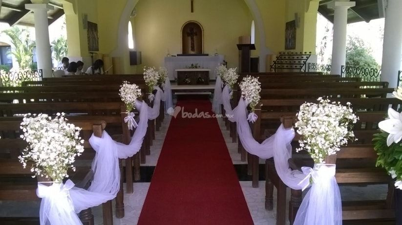 Ideas para decorar la iglesia de tu boda a bajo costo for Decoracion iglesia boda