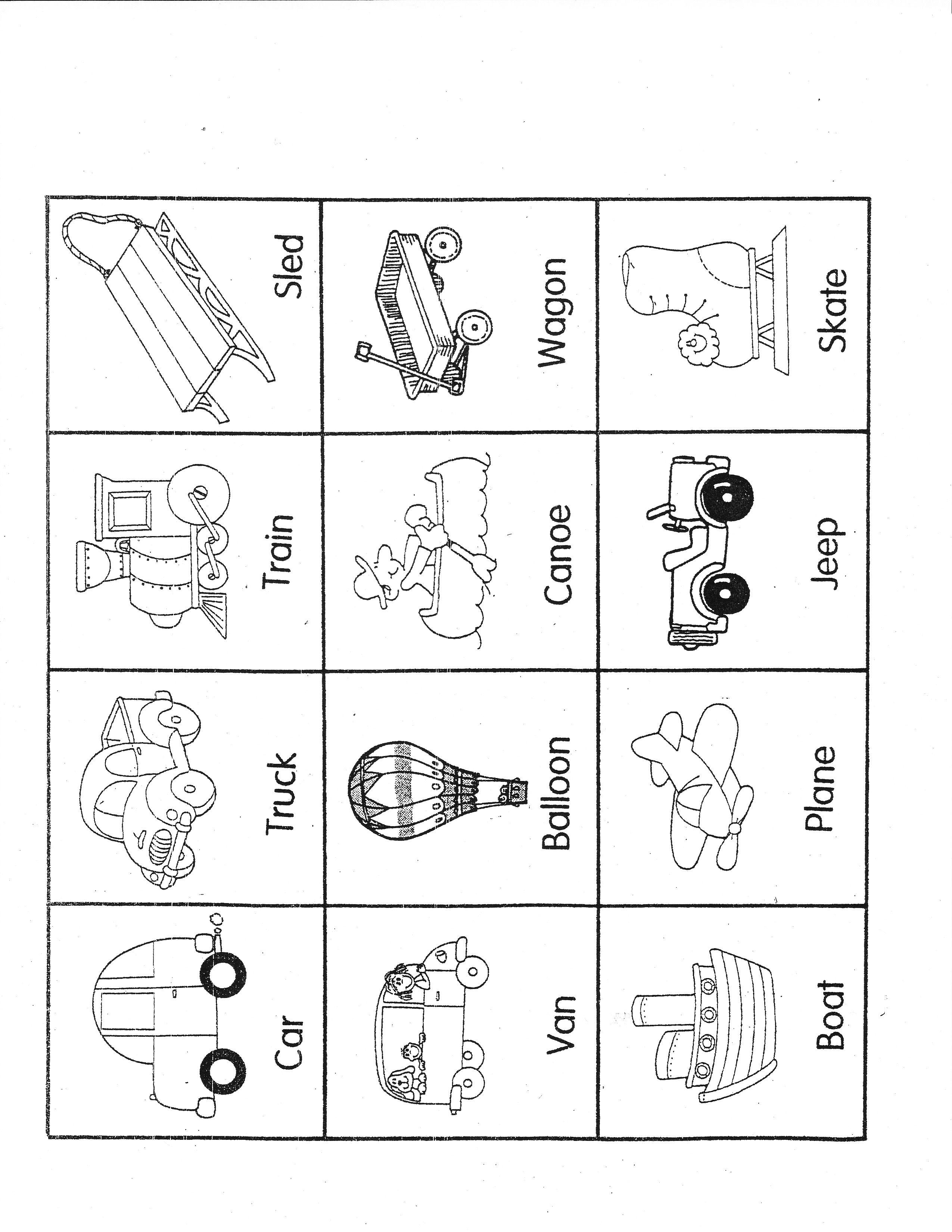 reinforce rhyming with transportation theme pre k activities transportation theme preschool. Black Bedroom Furniture Sets. Home Design Ideas