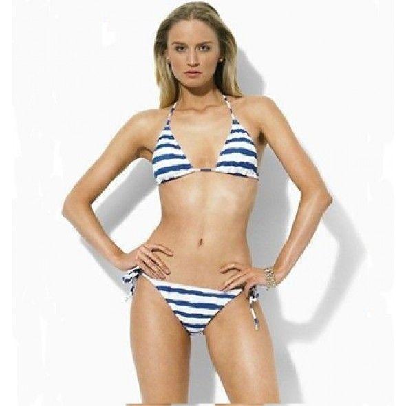 Ralph Lauren Women Strap Ricky Bikini Blue Bikini ! $38.30
